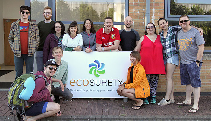 The 3 Peaks Team leave Ecosurety HQ