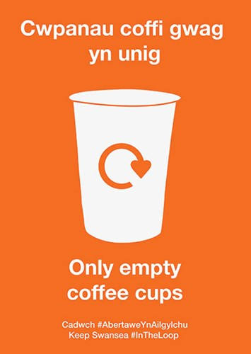 Coffee cup recycling Swansea
